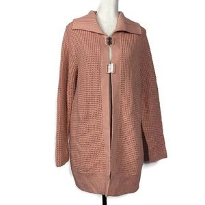 Chico's Dusty Rose Pink Duster Cardigan Sz Medium